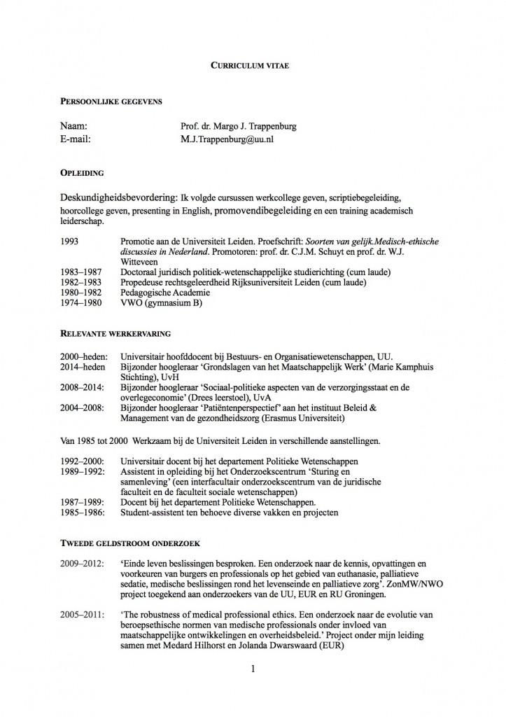 cv Margo Trappenburg clean edit